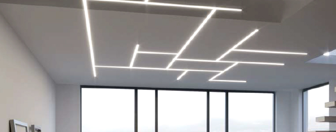 Luminaria de tiras lineal